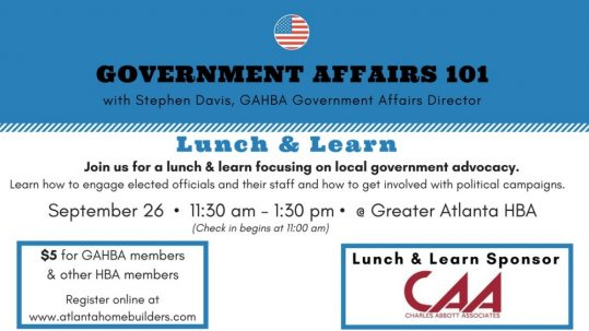 Government Affairs | Greater Atlanta Home Builders Association