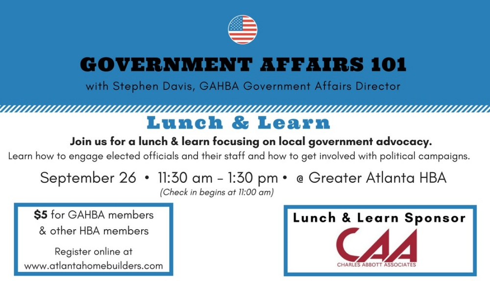 Government Affairs | Greater Atlanta Home Builders Association